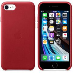 Apple iPhone SE 2020 Leather Case - (PRODUCT) Red