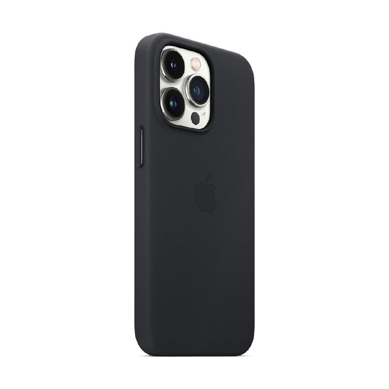 Apple iPhone 13 Pro Leather Case with MagSafe - Midnight, , hi-res
