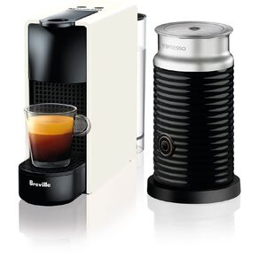 Nespresso Breville Essenza Mini Coffee Machine Pure White