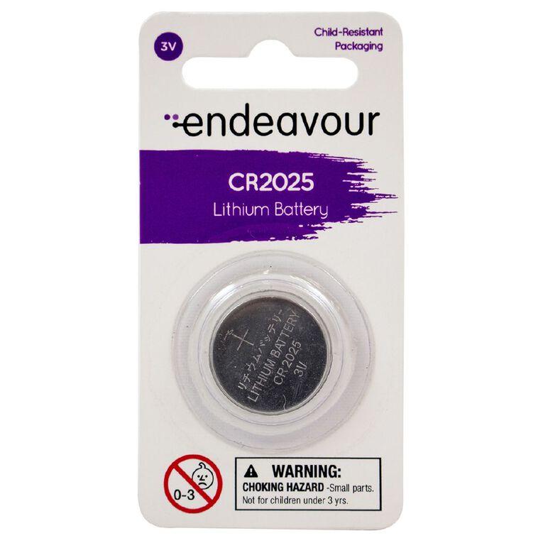 Endeavour CR2025 Lithium Button Battery, , hi-res