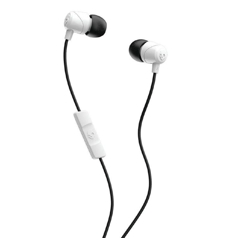 Skullcandy Jib In Ear Heaphones with Mic - White/Black/White, , hi-res