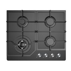 Award Black Glass 4 Burner Gas Hob