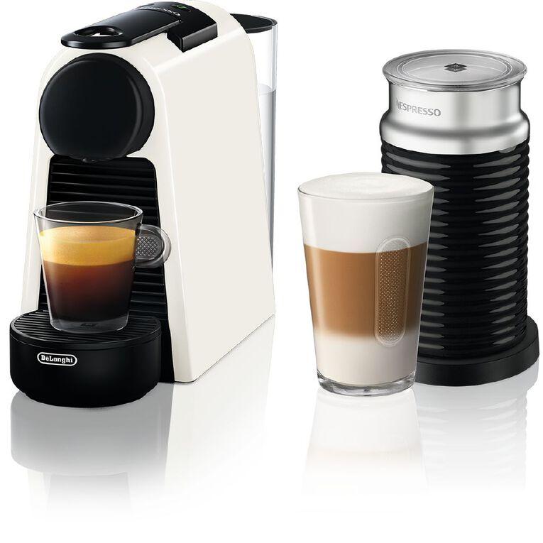 Nespresso DeLonghi Essenza Mini Coffee Machine Pure White, , hi-res