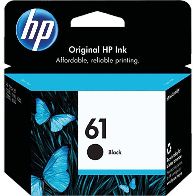 HP No.61 Ink - Black, , hi-res