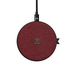 Moyork Wireless Charger - Merlot Red Fabric