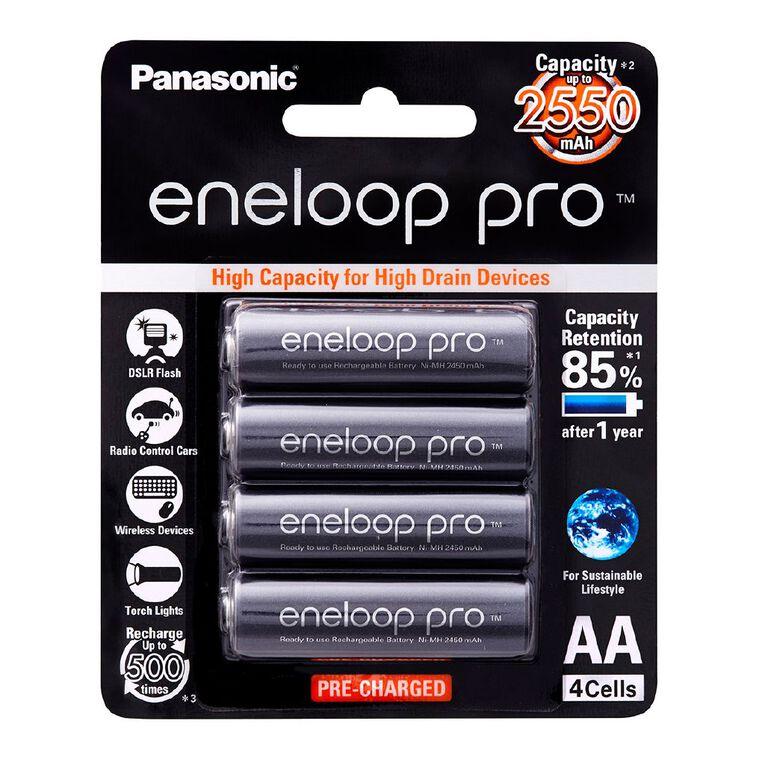 Panasonic Eneloop Pro AA Size Rechargeable Batteries 4 Pack, , hi-res