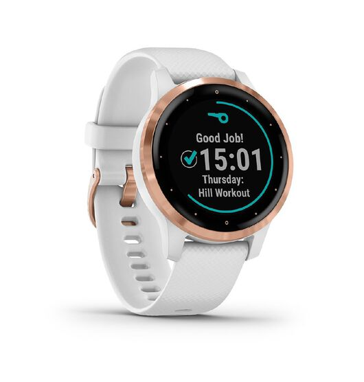 Garmin vivoactive 4S GPS Smartwatch White/Rose Gold