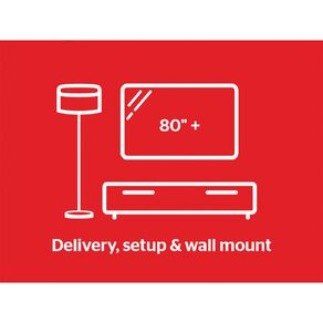 """Tech Solutions TV Delivery & Set Up with Wall Mounting 80"""" and above"""