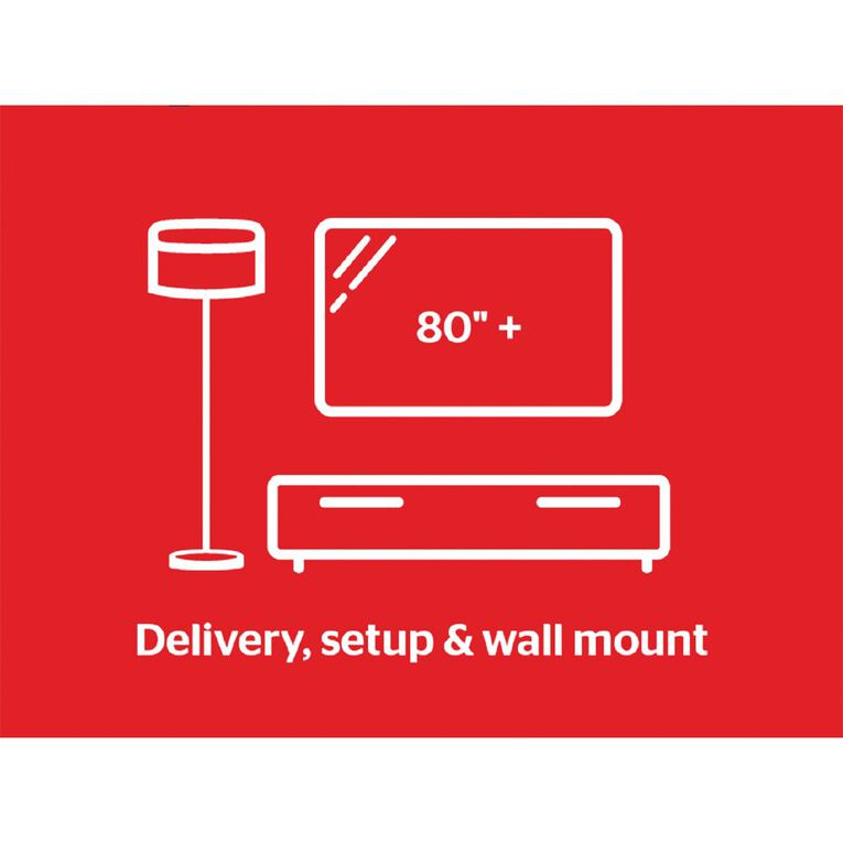 """Tech Solutions TV Delivery & Set Up with Wall Mounting 80"""" and above, , hi-res"""