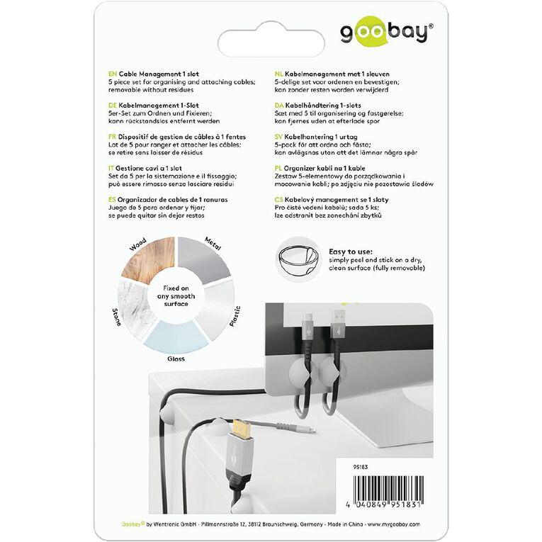 Goobay Cable Management 1 Slot Set  - White, , hi-res
