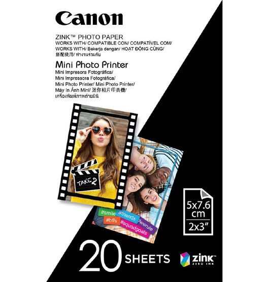 Canon Zink Photo Paper 20 Pack