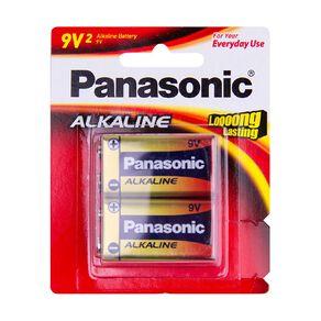 Panasonic 9V 2 Alkaline Battery Pack