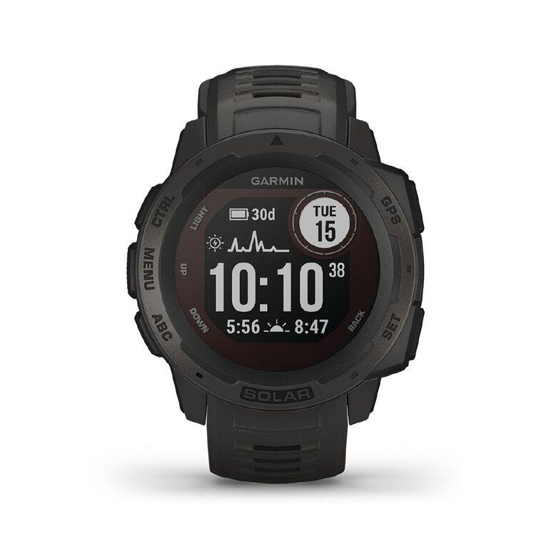 Garmin Instinct Solar Smartwatch Graphite, , hi-res