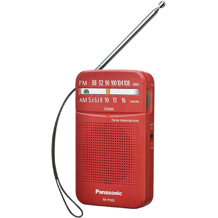 Panasonic Portable FM/AM Radio - Red, , hi-res