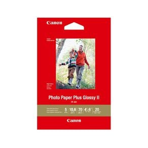 """Canon Photo Paper Plus Glossy II 4x6"""" 20 Pack"""