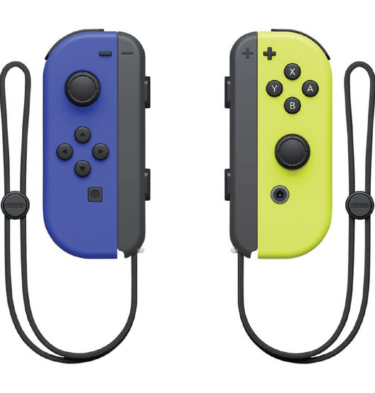 Nintendo Switch Joy Con Blue and Neon Yellow Pair