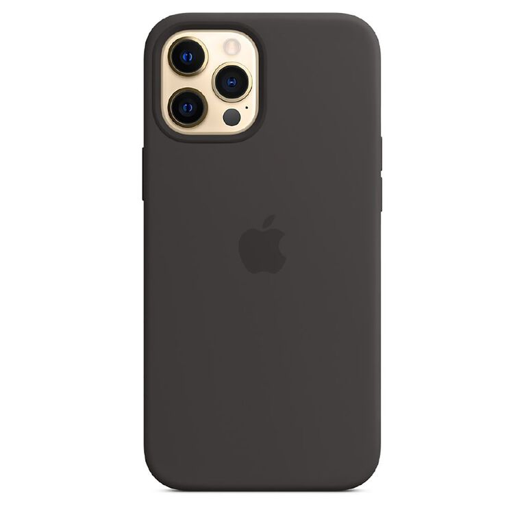 Apple iPhone 12 Pro Max Silicone Case with MagSafe - Black, , hi-res
