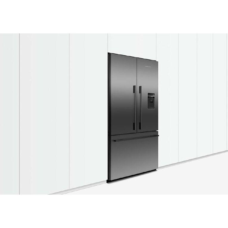 Fisher & Paykel 614 Litre French Door Fridge Freezer Black Stainless Steel, , hi-res