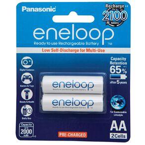Panasonic Eneloop AA Size Rechargeable Batteries 2 Pack