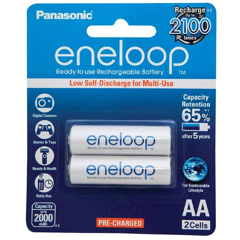 Panasonic Eneloop AA Size Rechargeable Batteries 2 Pack, , hi-res