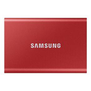 Samsung T7 Portable SSD - 500GB Metallic Red