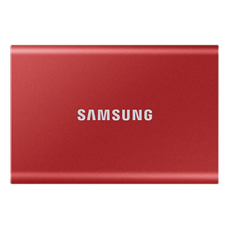 Samsung T7 Portable SSD - 500GB Metallic Red, , hi-res