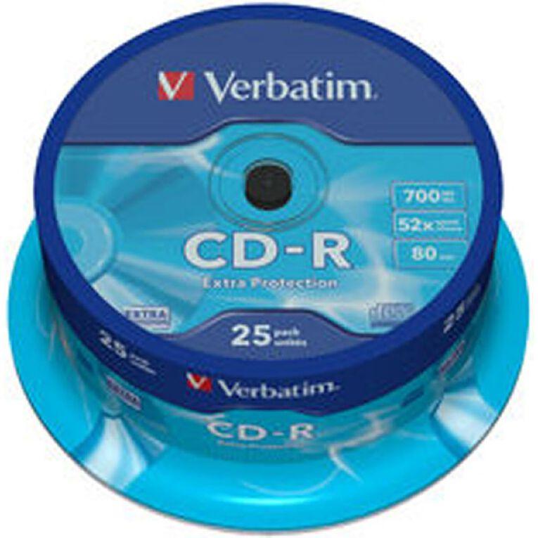 Verbatim CD-R 52x 700MB 25 Pack, , hi-res