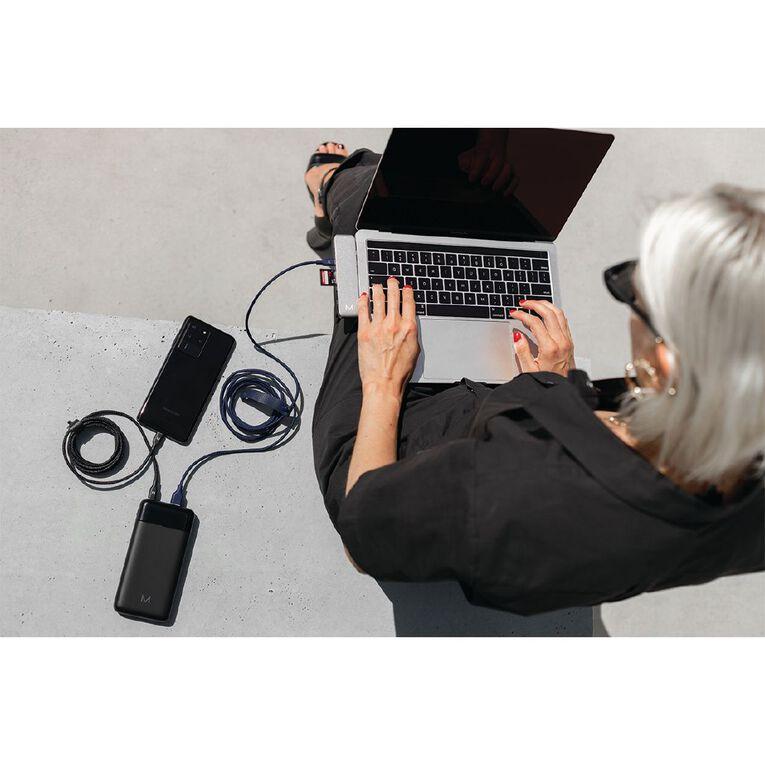 Moyork CORD 2M USB-A To USB-C Nylon Cable - Midnight Blue, , hi-res