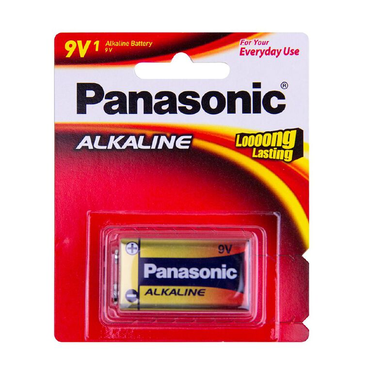 9V Panasonic Alkaline Battery, , hi-res