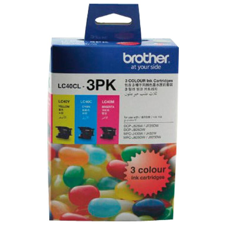 Brother LC40CL3PK Tri-Colour Pack, , hi-res