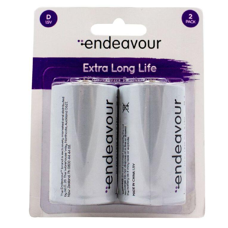 Endeavour D Size 1.5v Alkaline Battery 2 Pack, , hi-res