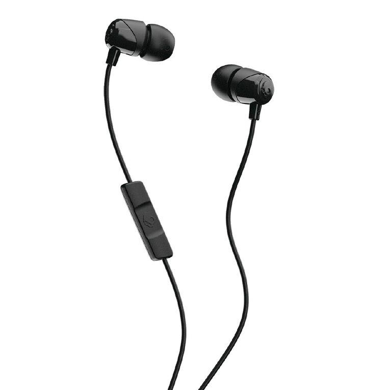 Skullcandy Jib In Ear Heaphones with Mic - Black/Black/Black, , hi-res