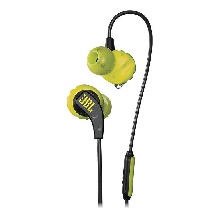 JBL Endurance RUN Sports In Ear Headphones  - Black/Lime, , hi-res