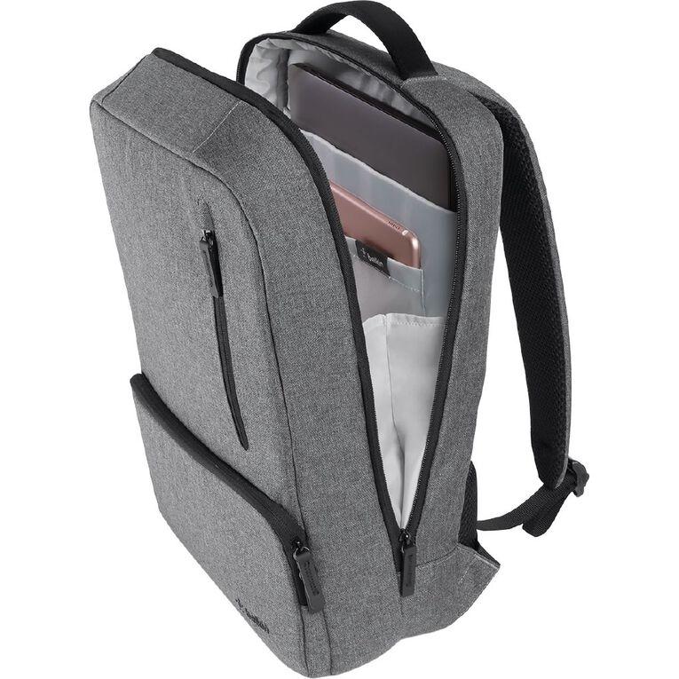 Belkin Classic Pro Laptop Backpack - Grey, , hi-res