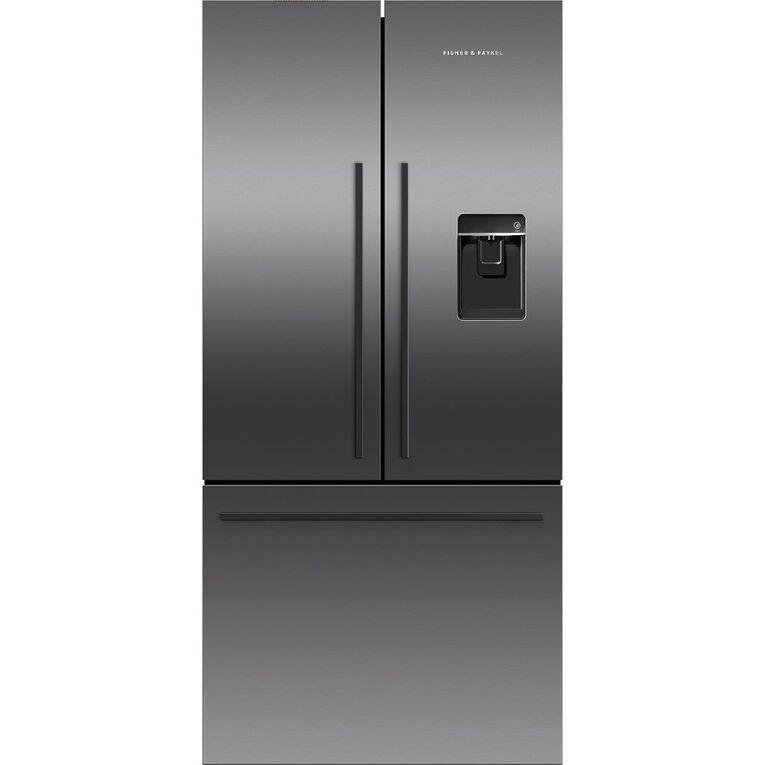 Fisher & Paykel 519 Litre French Door Fridge Freezer Black Stainless Steel, , hi-res