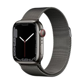 Apple Watch Series 7 Cellular, 41mm Graphite Stainless Steel Case with Graphite Milanese Loop