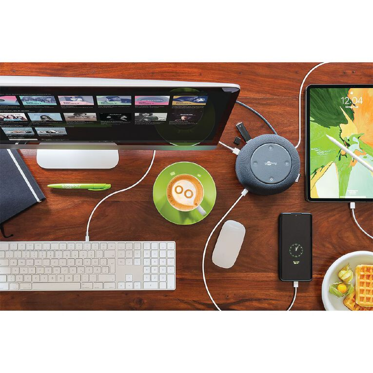 Goobay 12 in 1 USB-C Premium Dock + Speaker & Wireless Charger, , hi-res