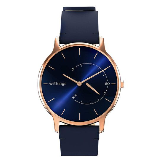 Withings Timeless Leather Activity Tracker - Blue/Rosegold