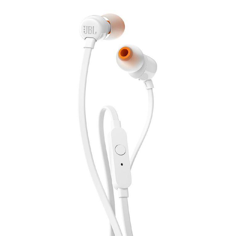 JBL T110 In Ear Headphones - White, , hi-res