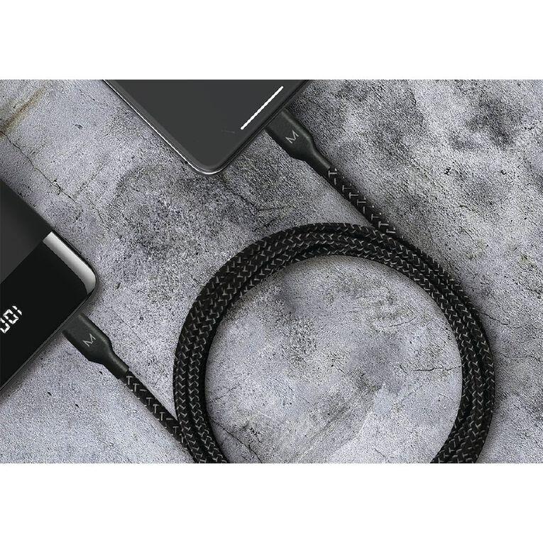 Moyork CORD+ 3m Lightning to USB-A Nylon Cable - Raven Black, , hi-res