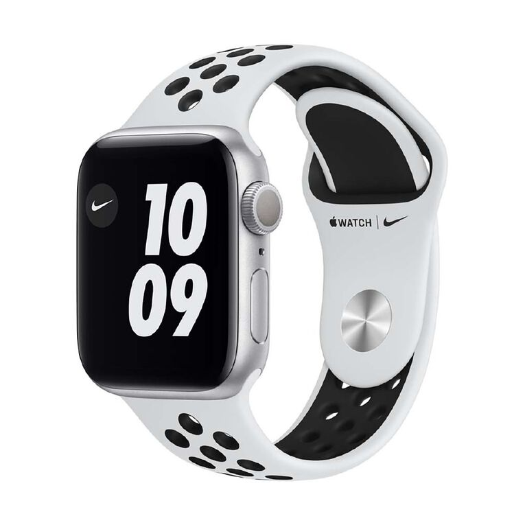 Image of Apple Watch Series 6 Nike 40mm GPS Silver Aluminium Case with Pure Platinum/Black Nike Sport Band