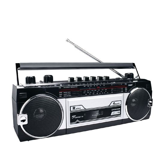 Endeavour Retro Boombox - Bluetooth/Cassette/AM/FM/SW