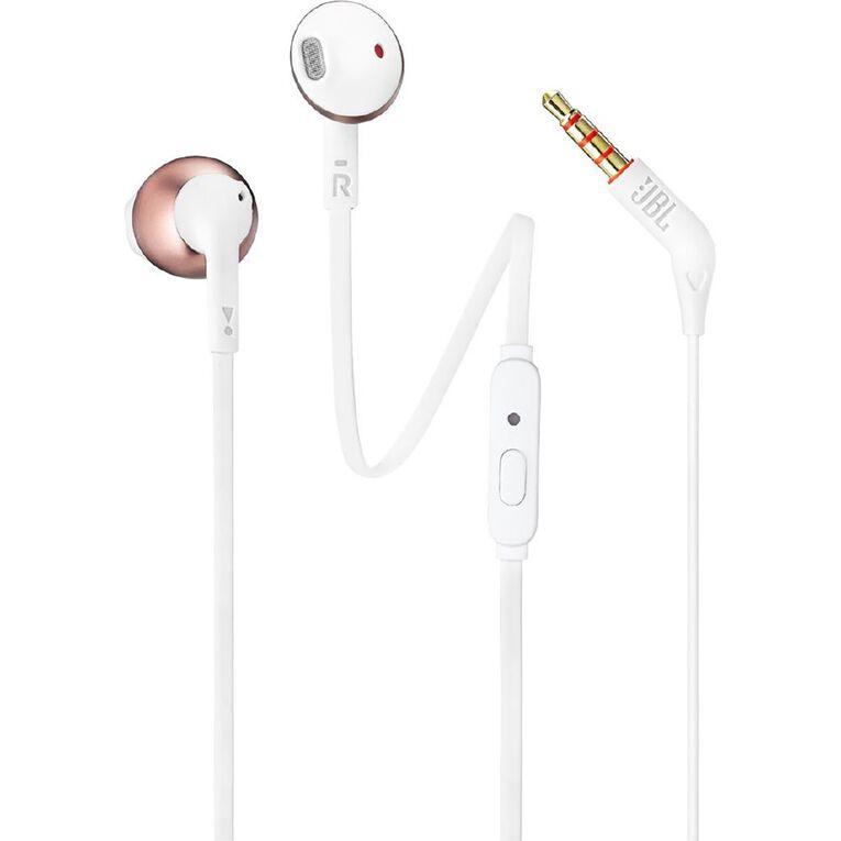 JBL T205 In Ear Headphones - Rose Gold, , hi-res