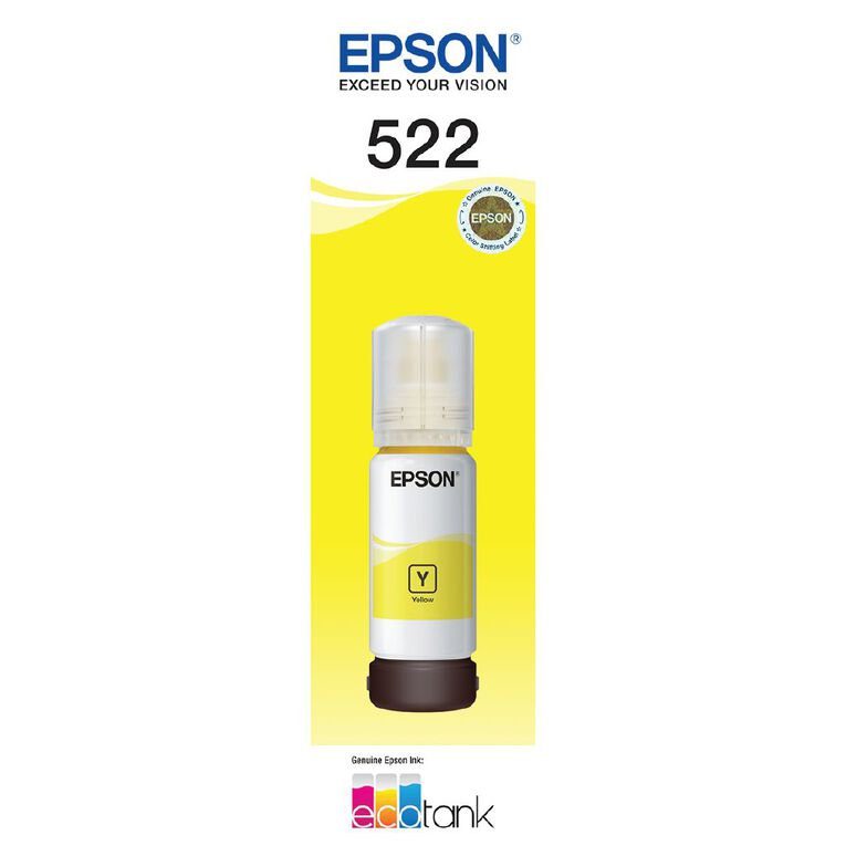 Epson Ink Bottle - T522 Yellow, , hi-res