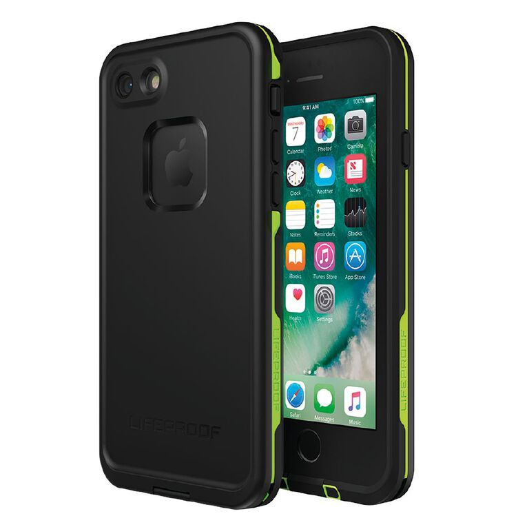 Lifeproof Fre Case for iPhone 7/8 - Black Lime, , hi-res