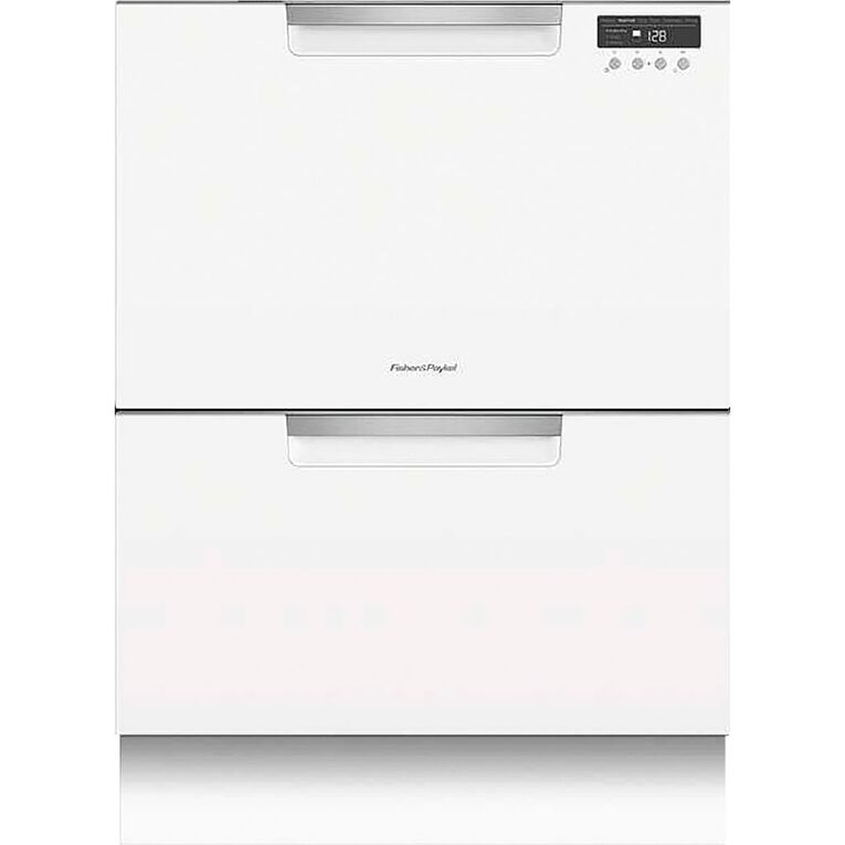 Fisher & Paykel 14 Place Setting Double DishDrawer - White, , hi-res