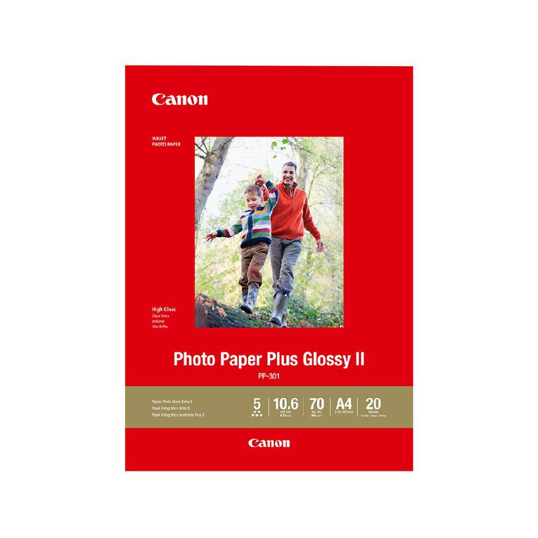 Canon Photo Paper Plus Glossy II A4 20 Pack, , hi-res