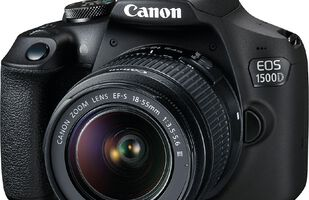 Canon EOS 1500D DSLR Camera with 18-55mm Lens