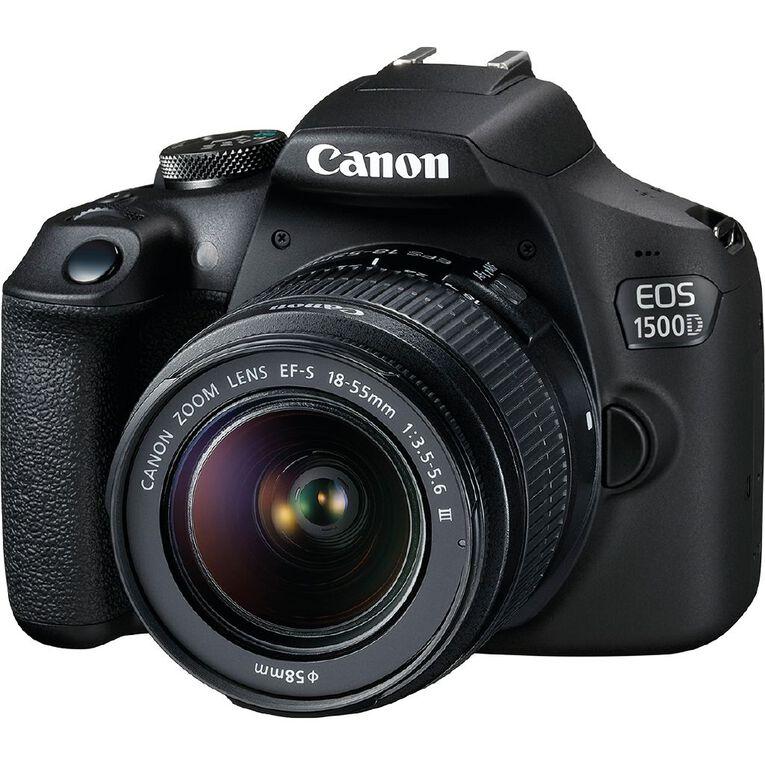 Canon EOS 1500D DSLR Camera with 18-55mm Lens, , hi-res