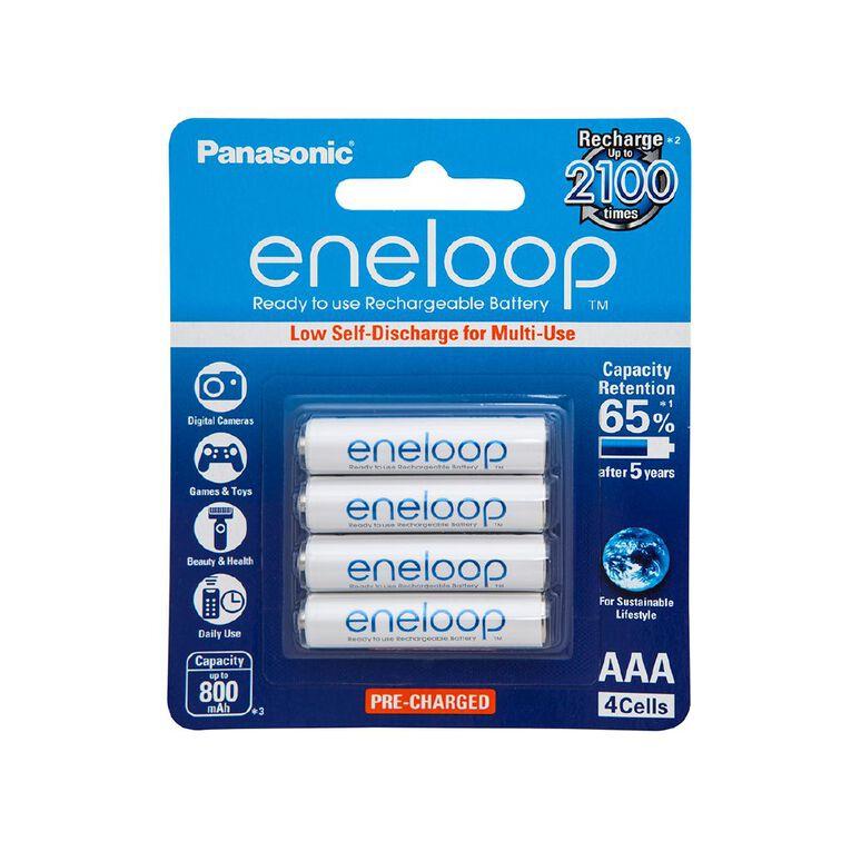 Panasonic Eneloop AAA Size Rechargeable Batteries 4 Pack, , hi-res